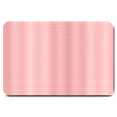 Red Polka Dots Line Spot Large Doormat  by Mariart