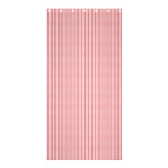 Red Polka Dots Line Spot Shower Curtain 36  X 72  (stall)  by Mariart
