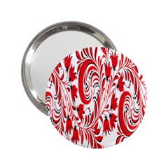 Red Flower Floral Leaf 2 25  Handbag Mirrors by Mariart