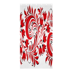 Red Flower Floral Leaf Shower Curtain 36  X 72  (stall)  by Mariart