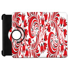 Red Flower Floral Leaf Kindle Fire Hd 7  by Mariart