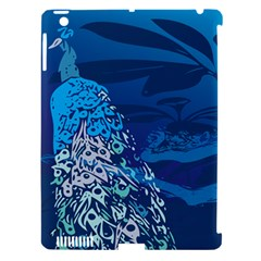 Peacock Bird Blue Animals Apple Ipad 3/4 Hardshell Case (compatible With Smart Cover) by Mariart