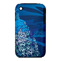 Peacock Bird Blue Animals Iphone 3s/3gs by Mariart