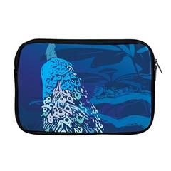 Peacock Bird Blue Animals Apple Macbook Pro 17  Zipper Case by Mariart