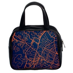 Virginia Map Art City Classic Handbags (2 Sides) by Mariart