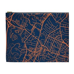 Virginia Map Art City Cosmetic Bag (xl) by Mariart