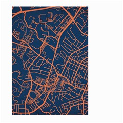 Virginia Map Art City Large Garden Flag (two Sides) by Mariart