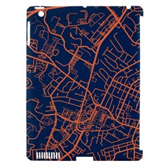 Virginia Map Art City Apple Ipad 3/4 Hardshell Case (compatible With Smart Cover) by Mariart