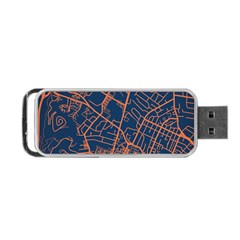 Virginia Map Art City Portable Usb Flash (two Sides) by Mariart