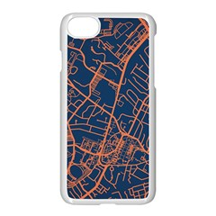 Virginia Map Art City Apple Iphone 7 Seamless Case (white) by Mariart