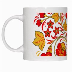 Wreaths Flower Floral Sexy Red Sunflower Star Rose White Mugs by Mariart