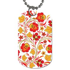 Wreaths Flower Floral Sexy Red Sunflower Star Rose Dog Tag (two Sides) by Mariart