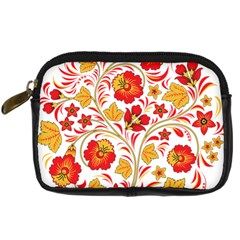 Wreaths Flower Floral Sexy Red Sunflower Star Rose Digital Camera Cases by Mariart