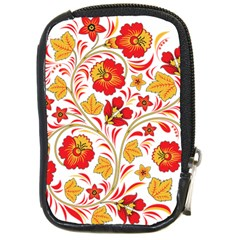 Wreaths Flower Floral Sexy Red Sunflower Star Rose Compact Camera Cases by Mariart
