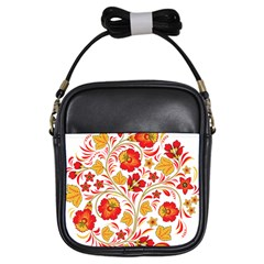 Wreaths Flower Floral Sexy Red Sunflower Star Rose Girls Sling Bags by Mariart