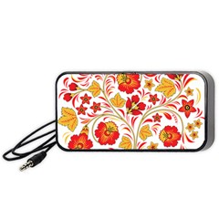 Wreaths Flower Floral Sexy Red Sunflower Star Rose Portable Speaker by Mariart