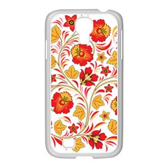 Wreaths Flower Floral Sexy Red Sunflower Star Rose Samsung Galaxy S4 I9500/ I9505 Case (white) by Mariart