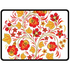 Wreaths Flower Floral Sexy Red Sunflower Star Rose Double Sided Fleece Blanket (large)  by Mariart