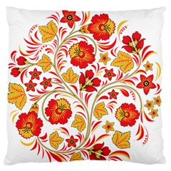 Wreaths Flower Floral Sexy Red Sunflower Star Rose Large Flano Cushion Case (one Side) by Mariart