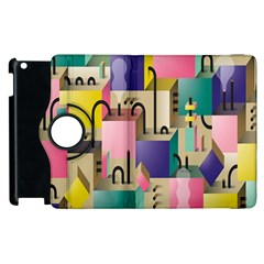 Magazine Balance Plaid Rainbow Apple Ipad 3/4 Flip 360 Case by Mariart