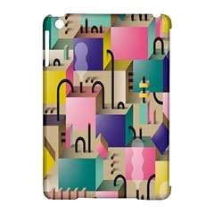 Magazine Balance Plaid Rainbow Apple Ipad Mini Hardshell Case (compatible With Smart Cover) by Mariart