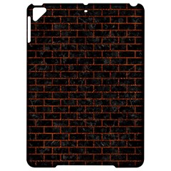 Brick1 Black Marble & Reddish Brown Leather (r) Apple Ipad Pro 9 7   Hardshell Case