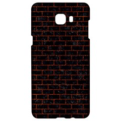 Brick1 Black Marble & Reddish Brown Leather (r) Samsung C9 Pro Hardshell Case  by trendistuff