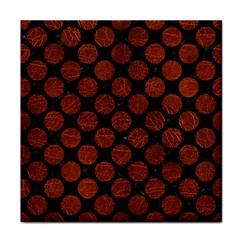 Circles2 Black Marble & Reddish Brown Leather (r) Tile Coasters by trendistuff