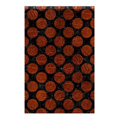 Circles2 Black Marble & Reddish Brown Leather (r) Shower Curtain 48  X 72  (small)  by trendistuff