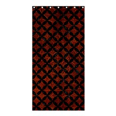 Circles3 Black Marble & Reddish Brown Leather Shower Curtain 36  X 72  (stall)  by trendistuff