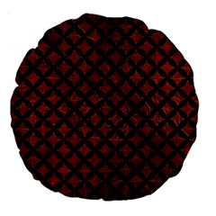Circles3 Black Marble & Reddish Brown Leather Large 18  Premium Round Cushions by trendistuff