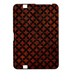 Circles3 Black Marble & Reddish Brown Leather Kindle Fire Hd 8 9  by trendistuff