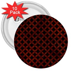 Circles3 Black Marble & Reddish Brown Leather (r) 3  Buttons (10 Pack)  by trendistuff