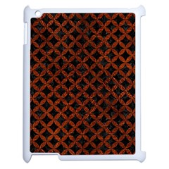 Circles3 Black Marble & Reddish Brown Leather (r) Apple Ipad 2 Case (white) by trendistuff
