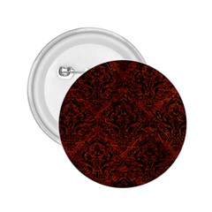 Damask1 Black Marble & Reddish Brown Leather 2 25  Buttons by trendistuff