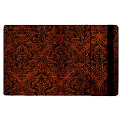Damask1 Black Marble & Reddish Brown Leather Apple Ipad 3/4 Flip Case by trendistuff