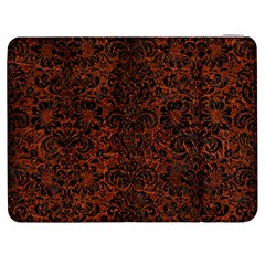Damask2 Black Marble & Reddish Brown Leather Samsung Galaxy Tab 7  P1000 Flip Case by trendistuff