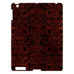 Damask2 Black Marble & Reddish Brown Leather (r) Apple Ipad 3/4 Hardshell Case by trendistuff