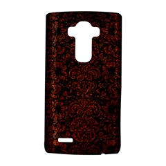 Damask2 Black Marble & Reddish Brown Leather (r) Lg G4 Hardshell Case by trendistuff