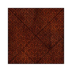 Hexagon1 Black Marble & Reddish Brown Leather Acrylic Tangram Puzzle (6  X 6 ) by trendistuff
