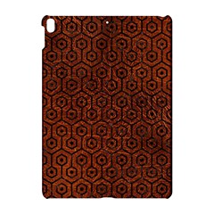 Hexagon1 Black Marble & Reddish Brown Leather Apple Ipad Pro 10 5   Hardshell Case by trendistuff