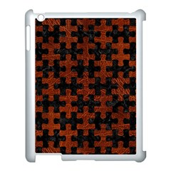 Puzzle1 Black Marble & Reddish Brown Leather Apple Ipad 3/4 Case (white) by trendistuff