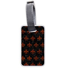 Royal1 Black Marble & Reddish Brown Leather Luggage Tags (two Sides) by trendistuff