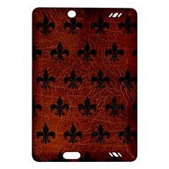 Royal1 Black Marble & Reddish Brown Leather (r) Amazon Kindle Fire Hd (2013) Hardshell Case by trendistuff