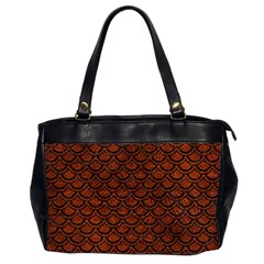 Scales2 Black Marble & Reddish Brown Leather Office Handbags (2 Sides)  by trendistuff