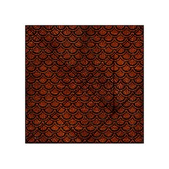 Scales2 Black Marble & Reddish Brown Leather Acrylic Tangram Puzzle (4  X 4 ) by trendistuff