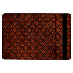 Scales2 Black Marble & Reddish Brown Leather Ipad Air Flip by trendistuff