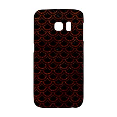 Scales2 Black Marble & Reddish Brown Leather (r) Galaxy S6 Edge by trendistuff