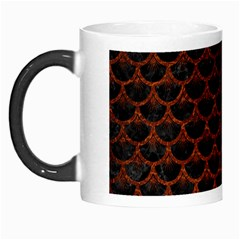 Scales3 Black Marble & Reddish Brown Leather (r) Morph Mugs by trendistuff