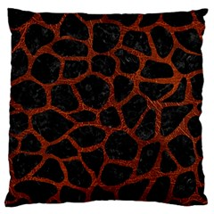 Skin1 Black Marble & Reddish Brown Leather Large Flano Cushion Case (two Sides) by trendistuff
